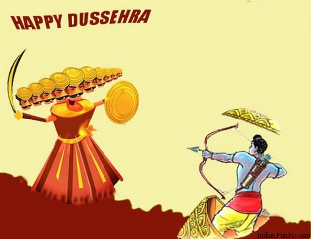 Dussehra Celebrations 2014 Facebook Greetings, WhatsApp HD Images, Wallpapers