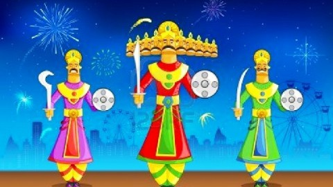 Top 3 Awesome Ravan Dahan 2014 Images, Pictures, Photos, Wallpapers