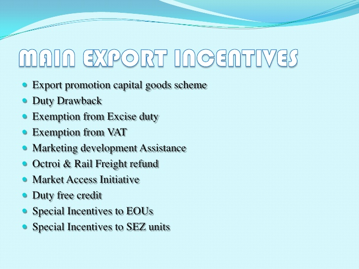 Export Assistance and Incentives