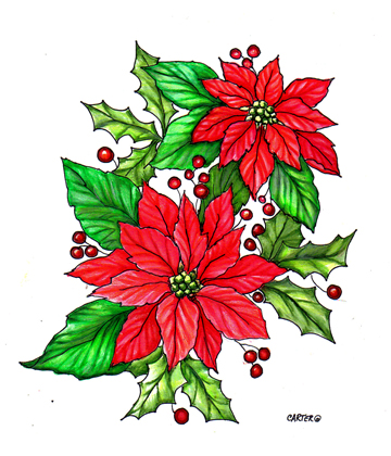 Happy Poinsettia Day 2014 Facebook Greetings, WhatsApp Images, Wallpapers