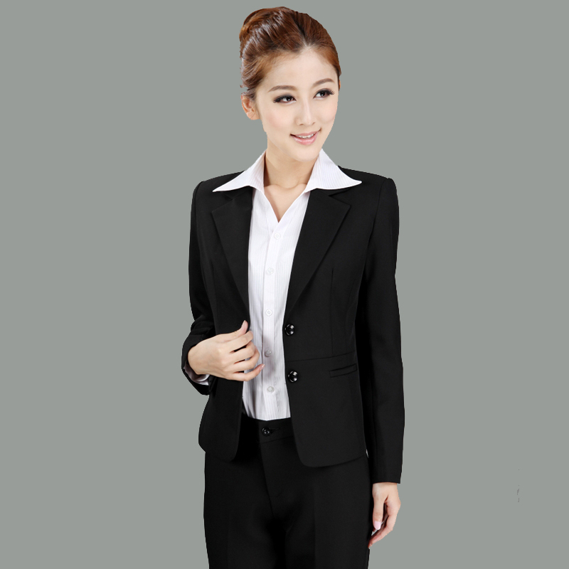 Popular-blazer-OL-formal-outfit-women-s-professional-set-white-collar-work-wear-suit-twinset