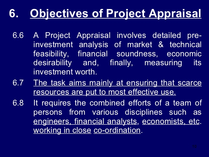 Pre-Investment Appraisal