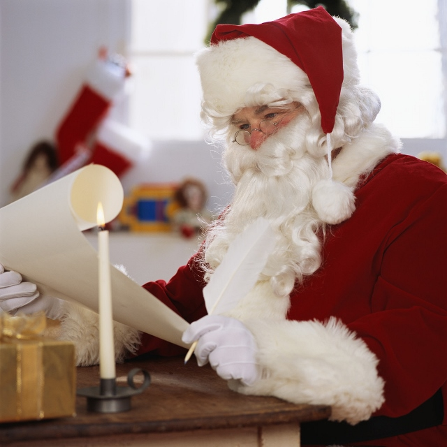 Santa Claus Reading a List