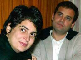 Priyanka Gandhi with her Brother Rahul Gandhi