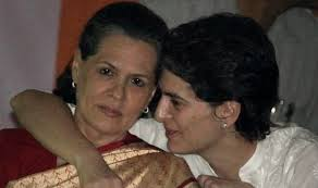 Priyanka Gandhi with her mother Sonia Gandhi