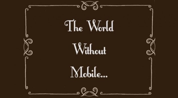 world without mobiles