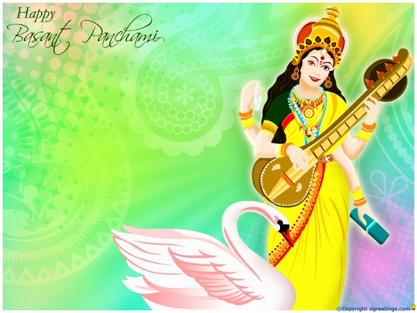 Goddess Lakshmi Wishes Happy Basant Panchami 2015 | HD Images