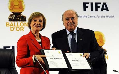 Sepp Blatter  and Marie-Odile Amaury