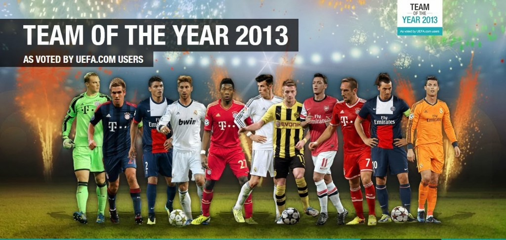 UEFA Fans Team of the Year 2013