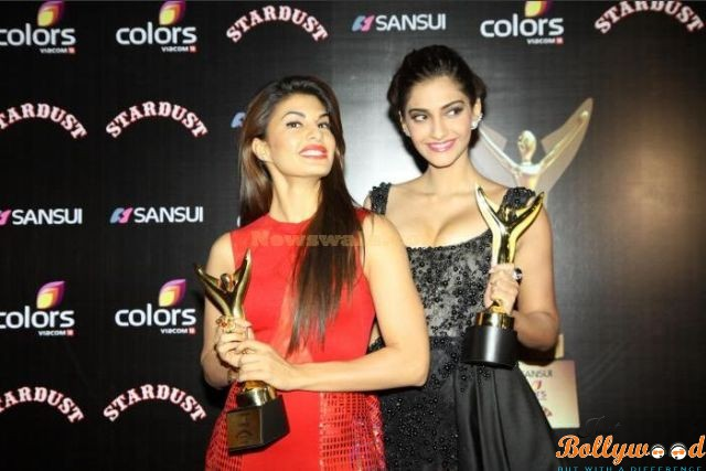 Jacqueline and Sonam in Stardust Awards