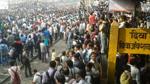 Commuters Go On Rampage As Mumbai Rail Gets Delayed