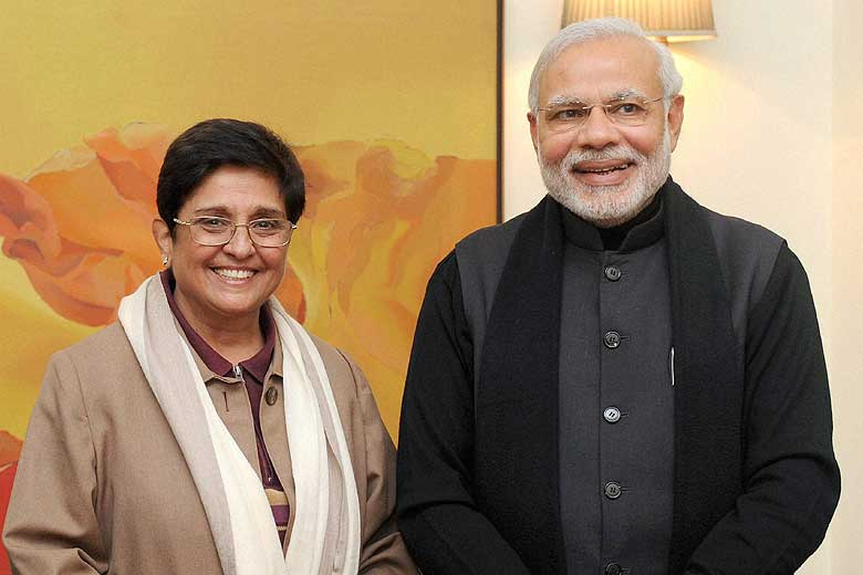 Kiran Bedi and Narendra Modi
