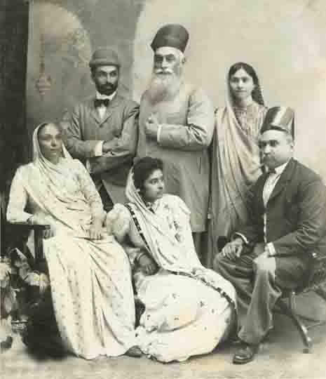 Jamsetji Tata with family
