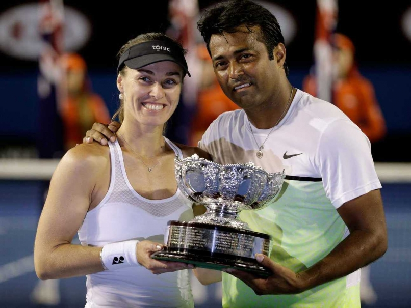 Its Martina Again For Leander Paes! The 41 Year old Joins Hands With Hingis to Capture His 15th Grand Slam Title