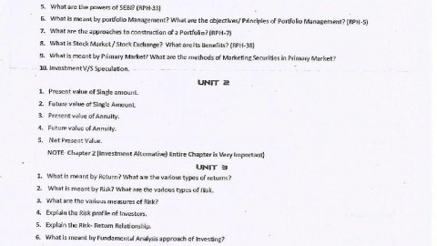 Investment Analysis and Portfolio Management Question Bank 2015 – Navigator Tutorials