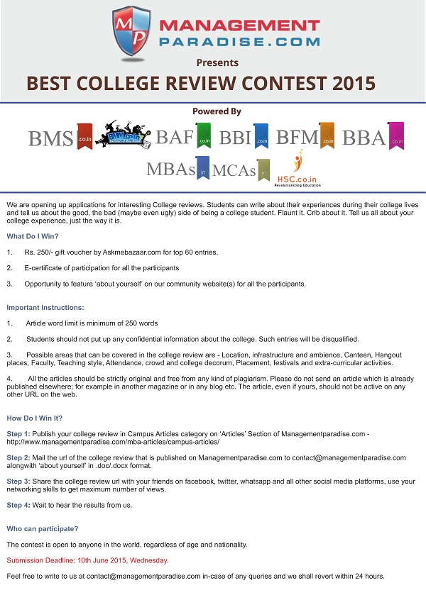Best College Review Contest 2015