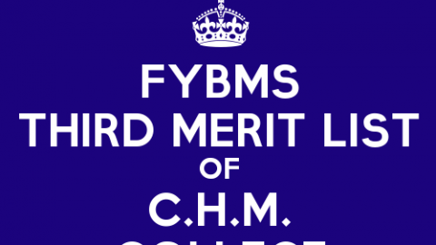 FYBMS Cutoff 2015 Third Merit List of C.H.M. College