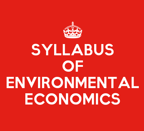 SYBMS Environmental Management & Economics Sem 3 Syllabus: Environmental Economics I