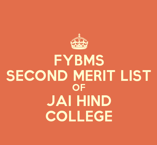 FYBMS Cutoff 2015 Second Merit List of Jai Hind College