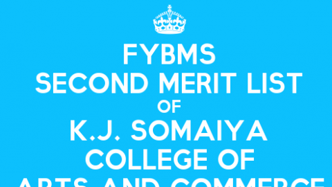 FYBMS Cutoff 2015 Second Merit List of K.J. Somaiya College of Arts and Commerce