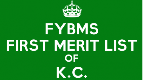FYBMS Cutoff 2015 First Merit List of K.C. College
