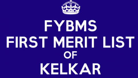 FYBMS Cutoff 2015 First Merit List of V.G. Vaze (Kelkar) College