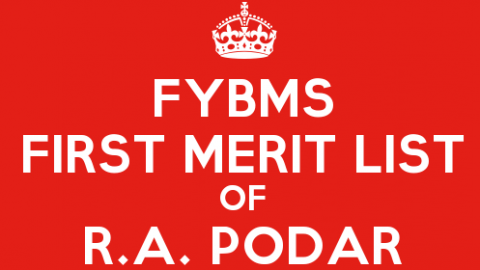 FYBMS Cutoff 2015 First Merit List of R.A. Podar College