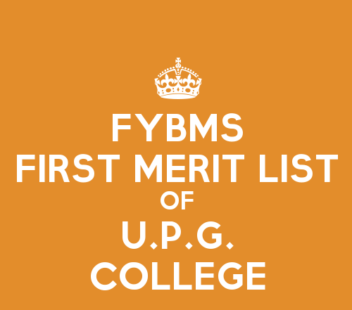 FYBMS Cutoff 2015 First Merit List of Usha Pravin Gandhi College