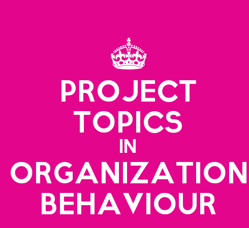 Complete List of 200 Marks TYBMS Project Topics in Organization Behavior