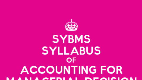 SYBMS Sem 3 Syllabus: Accounting for Managerial Decision