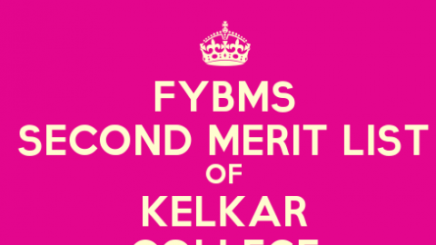 FYBMS Cutoff 2015 Second Merit List of V.G. Vaze (Kelkar) College