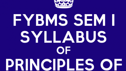 FYBMS Sem 1 Syllabus: Principles of Management