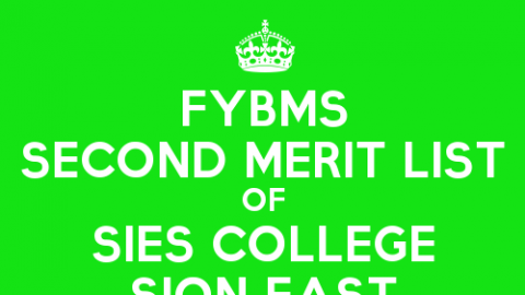 FYBMS Cutoff 2015 Second Merit List of SIES College Sion East