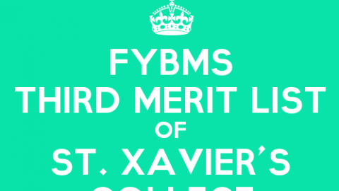 FYBMS Cutoff 2015 Third Merit List of St. Xavier's College