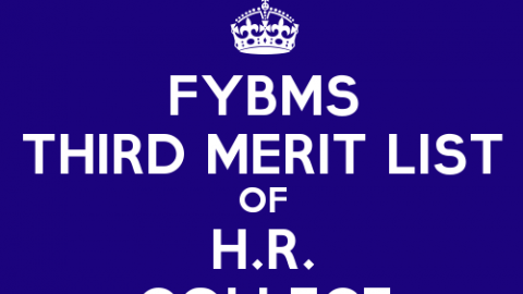 FYBMS Cutoff 2015 Third Merit List of H.R. College