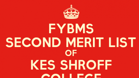 FYBMS Cutoff 2015 Second Merit List of KES Shroff College