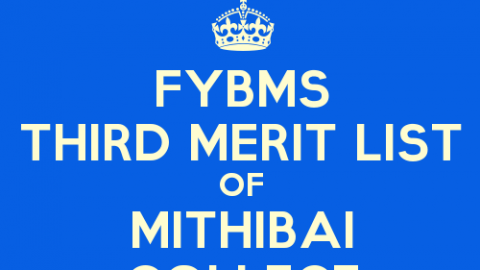 FYBMS Cutoff 2015 Third Merit List of Mithibai College