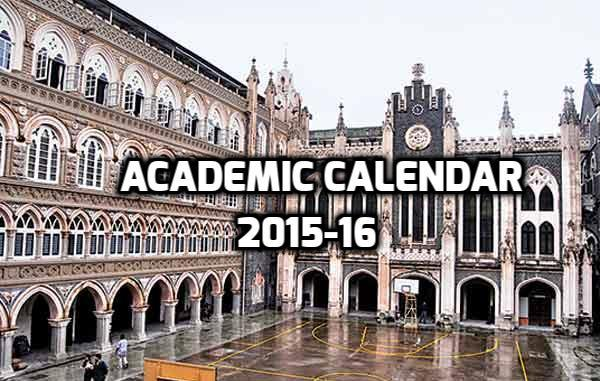 Academic Calendar 2015-16 of St. Xavier's College