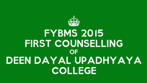 FYBMS First Counselling Closing Rank 2015 of Deen Dayal Upadhyaya College (DDU)