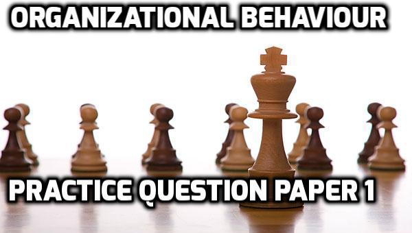 Organizational Behaviour Practice Question Paper 1