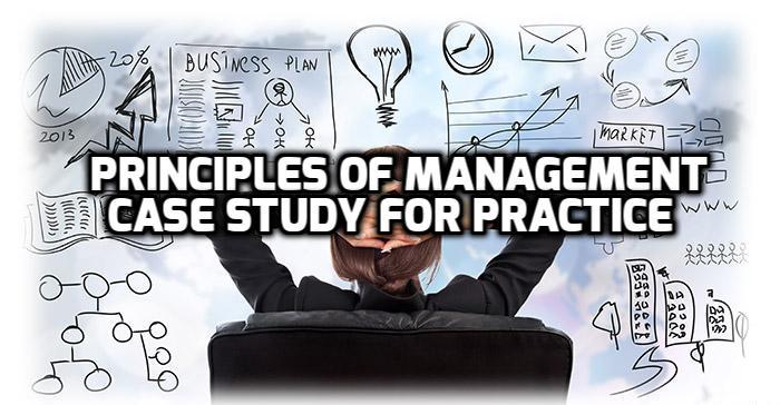 Principles of Management Case Study For Practice