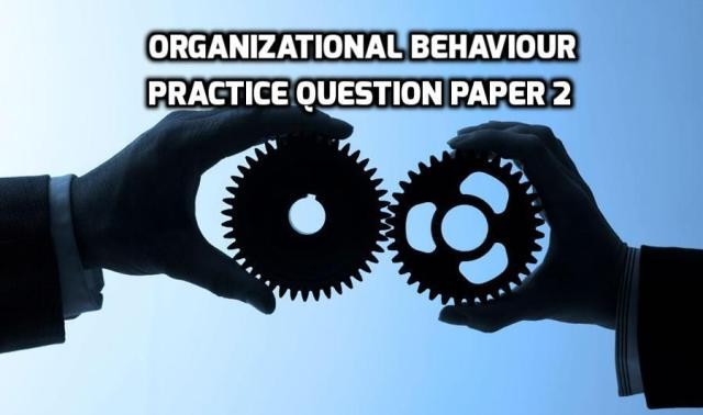 Organizational Behaviour Practice Question Paper 2