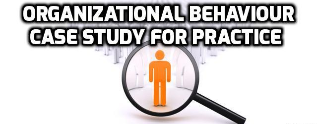 Organizational Behaviour Case Study For Practice