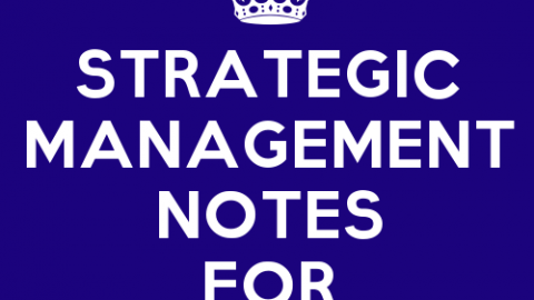 Strategic Management Notes for BMS